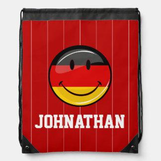 Lächelnde deutsche Flagge Sportbeutel