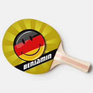 Lächelnde deutsche Flagge Tischtennis Schläger