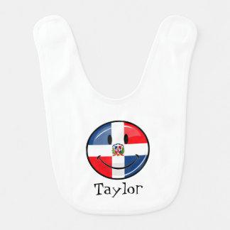 Lächelnde Dominikanische Republik-Flagge Babylätzchen