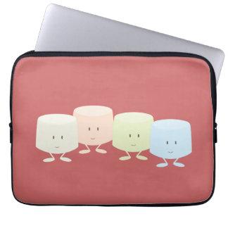 Lächelnde Eibischgruppe Laptop Sleeve
