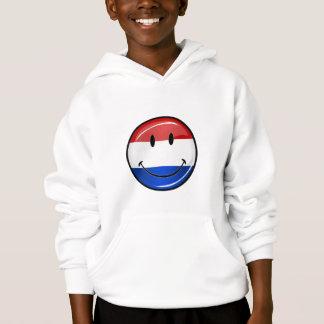 Lächelnde Flagge Hollands die Niederlande Hoodie