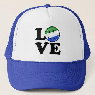Lächelnde Flagge Liebe-Sierra Leone Truckerkappe