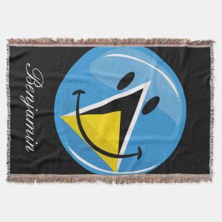 Lächelnde Flagge von Heiliger Lucia Decke