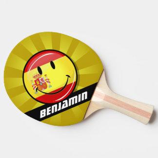 Lächelnde Flagge von Spanien Tischtennis Schläger