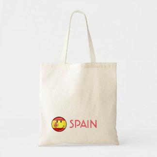 Lächelnde Flagge von Spanien Tragetasche