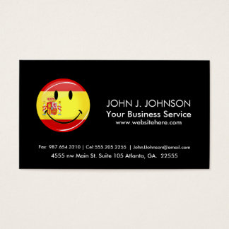 Lächelnde Flagge von Spanien Visitenkarten