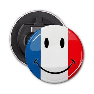 Lächelnde französische Flagge Flaschenöffner
