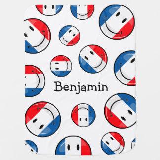 Lächelnde französische Flagge Kinderwagendecke