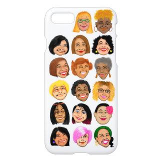 Lächelnde Frauen grafisch auf iPhone 7 glattem iPhone 8/7 Hülle