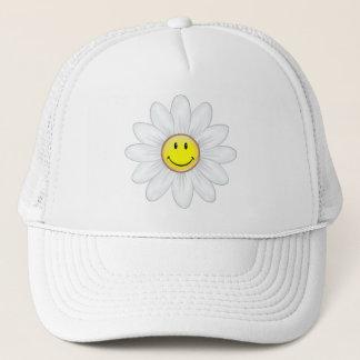 Lächelnde Gänseblümchen-Blume Truckerkappe