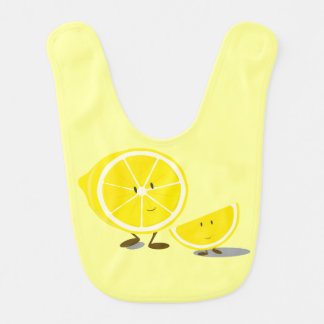 Lächelnde geschnittene Zitronen Lätzchen