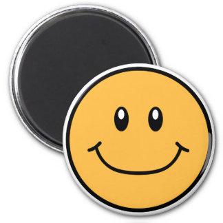 Lächelnde Gesichts-Magnet-Orange 0001 Runder Magnet 5,1 Cm