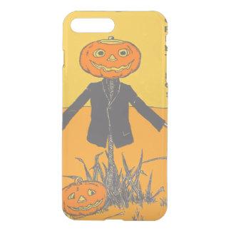 Lächelnde glückliche Vogelscheuche-Jack O Laterne iPhone 8 Plus/7 Plus Hülle