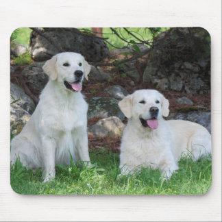 Lächelnde golden retriever-Hundemausunterlage Mousepad