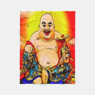 Lächelnde grafische Kunst-Fleece-Decke Buddhas Fleecedecke