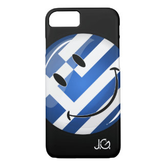 Lächelnde griechische Flagge iPhone 8/7 Hülle