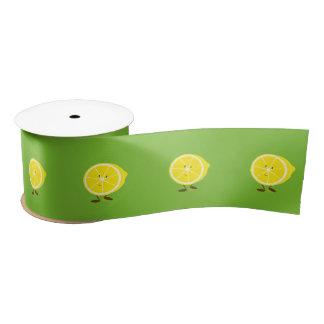Lächelnde halbe Zitrone Satinband