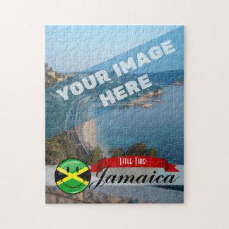 Lächelnde jamaikanische Flagge Puzzle