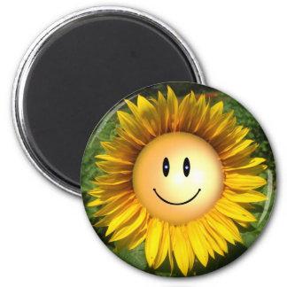 Lächelnde künstlerische Illustration der Kühlschrankmagnet