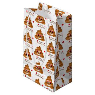 Lächelnde Liebe kacken Geschenk-Tasche Emoji Kleine Geschenktüte