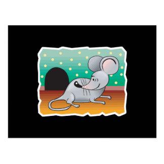 lächelnde Maus Postkarten