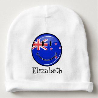 Lächelnde Neuseeland-Flagge Babymütze