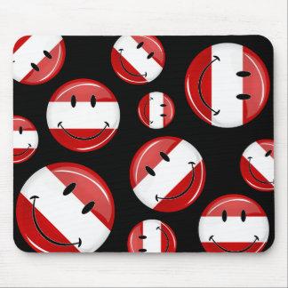 Lächelnde österreichische Flagge Mousepad