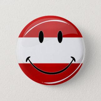 Lächelnde österreichische Flagge Runder Button 5,7 Cm