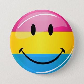 Lächelnde Pansexual Stolz-Flagge Runder Button 7,6 Cm