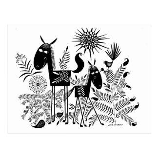 Lächelnde Pferde Postkarte