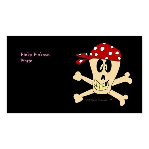 Lächelnde Piraten-Schädel-und Kreuz-Knochen Visitenkartenvorlagen