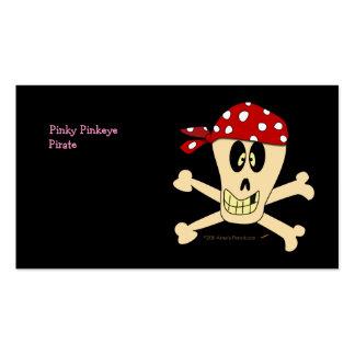 Lächelnde Piraten-Schädel-und Kreuz-Knochen Visitenkarten