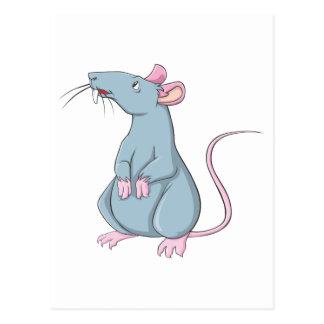 Lächelnde Ratte Postkarte