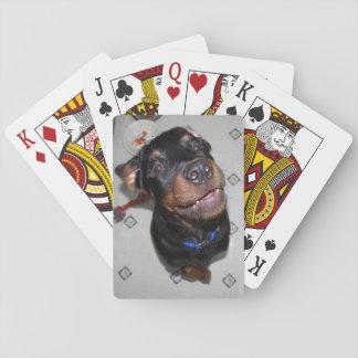 Lächelnde Rottweiler Welpen-Spielkarten Spielkarten