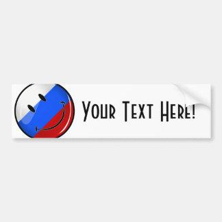 Lächelnde russische Flagge Autoaufkleber