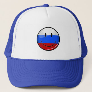 Lächelnde russische Flagge Truckerkappe