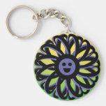 Lächelnde Sally-Blume Keychain - 369 Schlüsselband