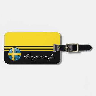 Lächelnde schwedische Flagge Gepäckanhänger