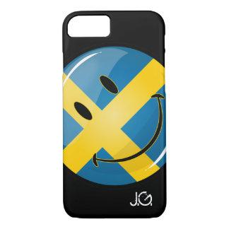 Lächelnde schwedische Flagge iPhone 8/7 Hülle