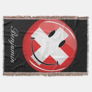 Lächelnde Schweizer Flagge Decke