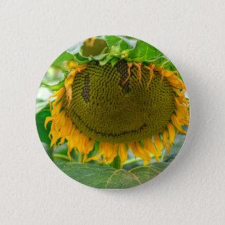 Lächelnde Sonnenblume Runder Button 5,1 Cm