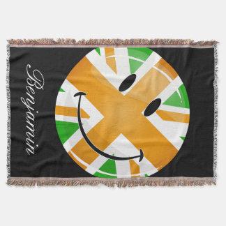 Lächelnde stolze irische Brite-Flagge Decke