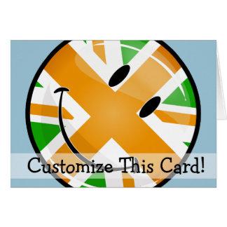 Lächelnde stolze irische Brite-Flagge Karte