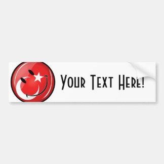 Lächelnde türkische Flagge Autoaufkleber