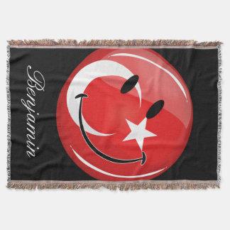 Lächelnde türkische Flagge Decke