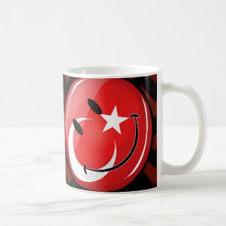 Lächelnde türkische Flagge Kaffeetasse