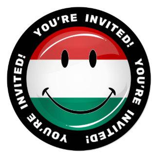 Lächelnde ungarische Flagge Quadratische 13,3 Cm Einladungskarte