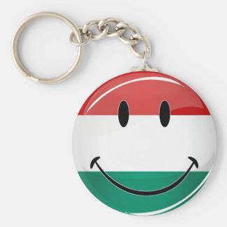 Lächelnde ungarische Flagge Schlüsselanhänger