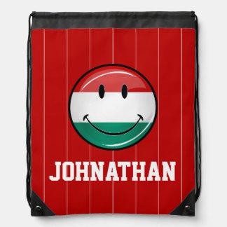 Lächelnde ungarische Flagge Sportbeutel