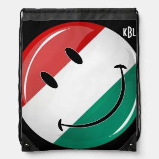 Lächelnde ungarische Flagge Turnbeutel